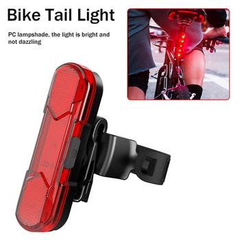 Bike LED Taillight USB Bicycle Flash Light Rear Tail Safety Warning Cycling Light 4 Mode Riding Lamp Bike Accessories bike taillight waterproof usb rechargeable warning safety bicycle rear light led bicycle light cycling flash lamp bike taillight