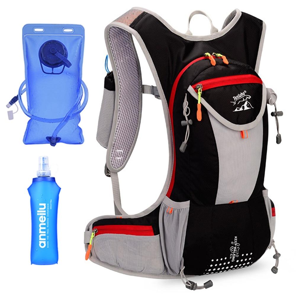 Light Weight 15L Hydration Backpack Outdoor Rucksack Bag Men Option 2.5L Water Bladder For Hiking Ultra Trail Running Race