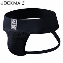 Мужской спортивный бандаж JOCKMAIL, сексуальное нижнее белье для мужчин, шорты, гей-стринги, 2020