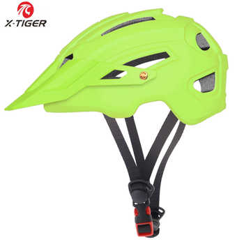 X-TIGER TRAIL XC Cycling Helmet With Hat EPS+PC Cover MTB Bike Helmet Integrally-mold Cycling Mountain Bicycle Helmet - DISCOUNT ITEM  50% OFF All Category