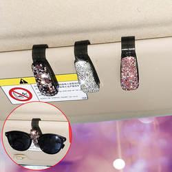 Автомобильная коробка для очков многофункциональный автомобильный держатель для солнцезащитных очков милый бриллиант набор женских