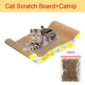 M Shape Cat Toys Cat Scratch Board Pad Scratching Posts Kitten Corrugated Paper Pad Cats Grinding Nail Scraper Mat Mattress 1
