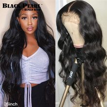 Wigs Lace-Wig Human-Hair 180density Black 360 Pearl Brazilian for Women Body-Wave 30inch