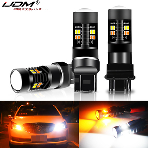 iJDM Dual Color 1157 BAY15D P21/5W Led T20 7443 W21/5W Led Bulb T25 3157 P27/7W Car DRL Turn Signal Lamp Auto Lights Bulb 12V