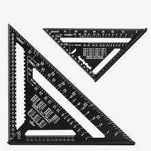 """"""" 12"""" треугольник угломер алюминиевый сплав скорость квадратная измерительная линейка Торцовочная обрамление строительный плотник измерительные инструменты"""