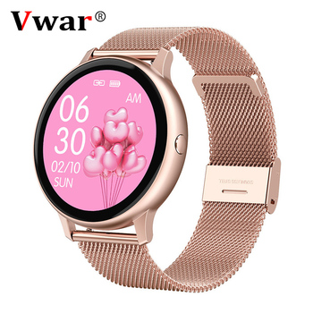 2020 Full Touch Smart Watch Women Waterproof ECG Heart Rate Monitor Fitness Active Female Smartwatch Connect Samsung IOS Android