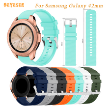 Wristband Silicone bracelet For Samsung Galaxy 42mm watch strap replacement For Samsung Gear S2/Gear Sport Smart watch 20mm band цены онлайн