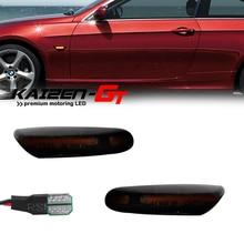 مصابيح أمامية LED مع عدسات مدخنة متسلسلة ، ضوء وامض ، لسيارات BMW 1 3 5 Series X1 E46 E81 E82 E90 E91 E60