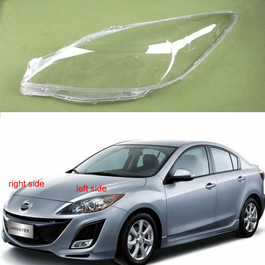 For Mazda 3 Speed Headlamps Glass Cover Transparent Lampshades Lamp Shell Masks Lampshade Lens Glass