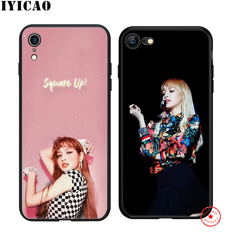 IYICAO Blackpink Lisa Soft Phone Case for iPhone 11 Pro XR X XS Max 6 6S 7 8 Plus 5 5S SE Silicone TPU 7 Plus in Fitted Cases from Cellphones Telecommunications