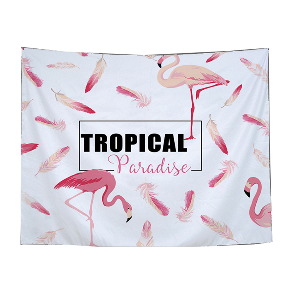 100% Polyester Animal Pattern Flamingo Printed Tapestry Wall Hanging 150x130cm Carpet Home Decorations