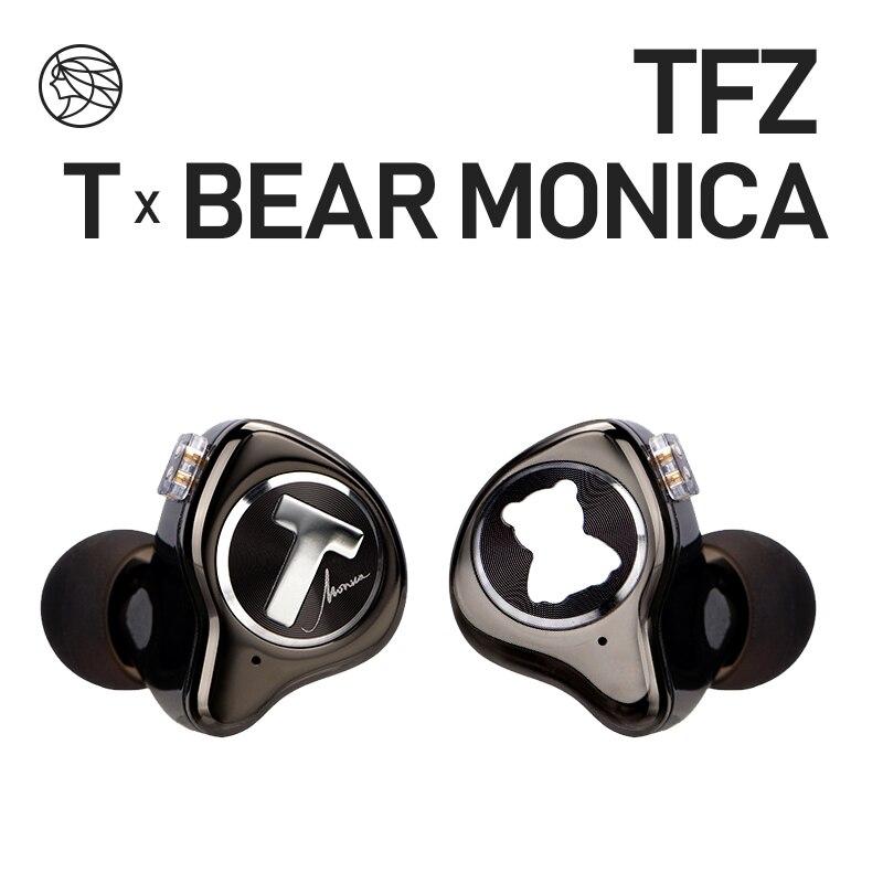 Tfz t x urso monica no monitor de ouvido profissional fone com cancelamento ruído super bass dj música alta fidelidade fone cabo destacável