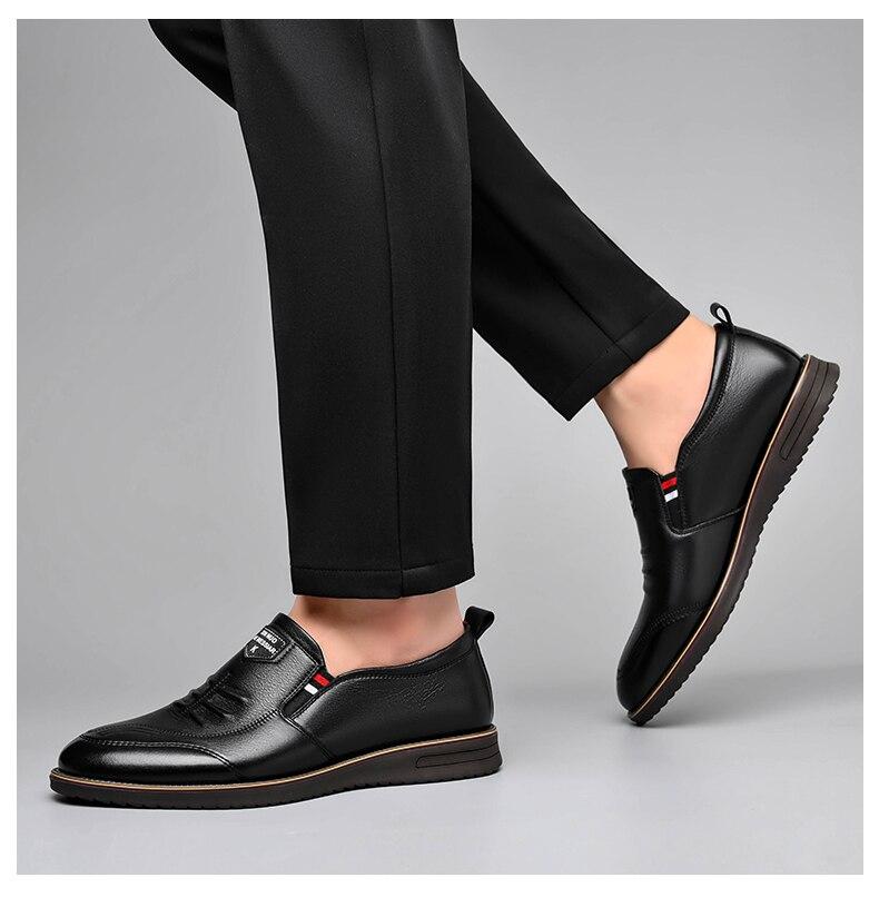 britânico sapatos casuais masculinos sola macia resistente