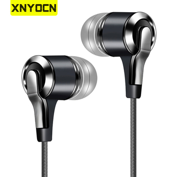 Xnyocn Earphones 3.5mm In-Ear 1.2m Wired Control Sport Headset Wired Headphones For Huawei Honor Smartphone With Microphone 1