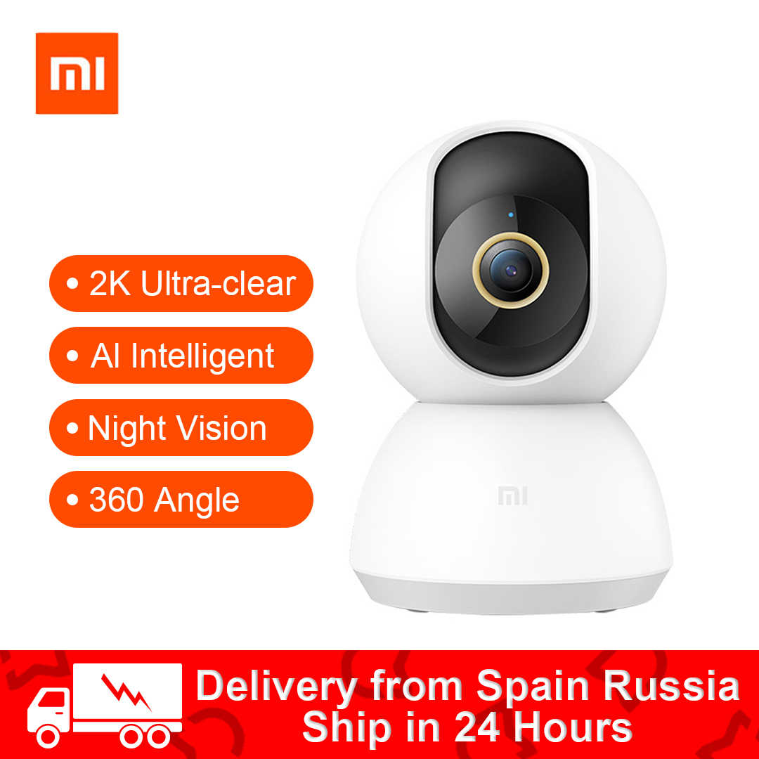 2020 Xiaomi Mijia Smart IP Camera 2K 360 Angle Video CCTV WIFI Malam Visi Nirkabel Webcam Cam Lihat baby Monitor