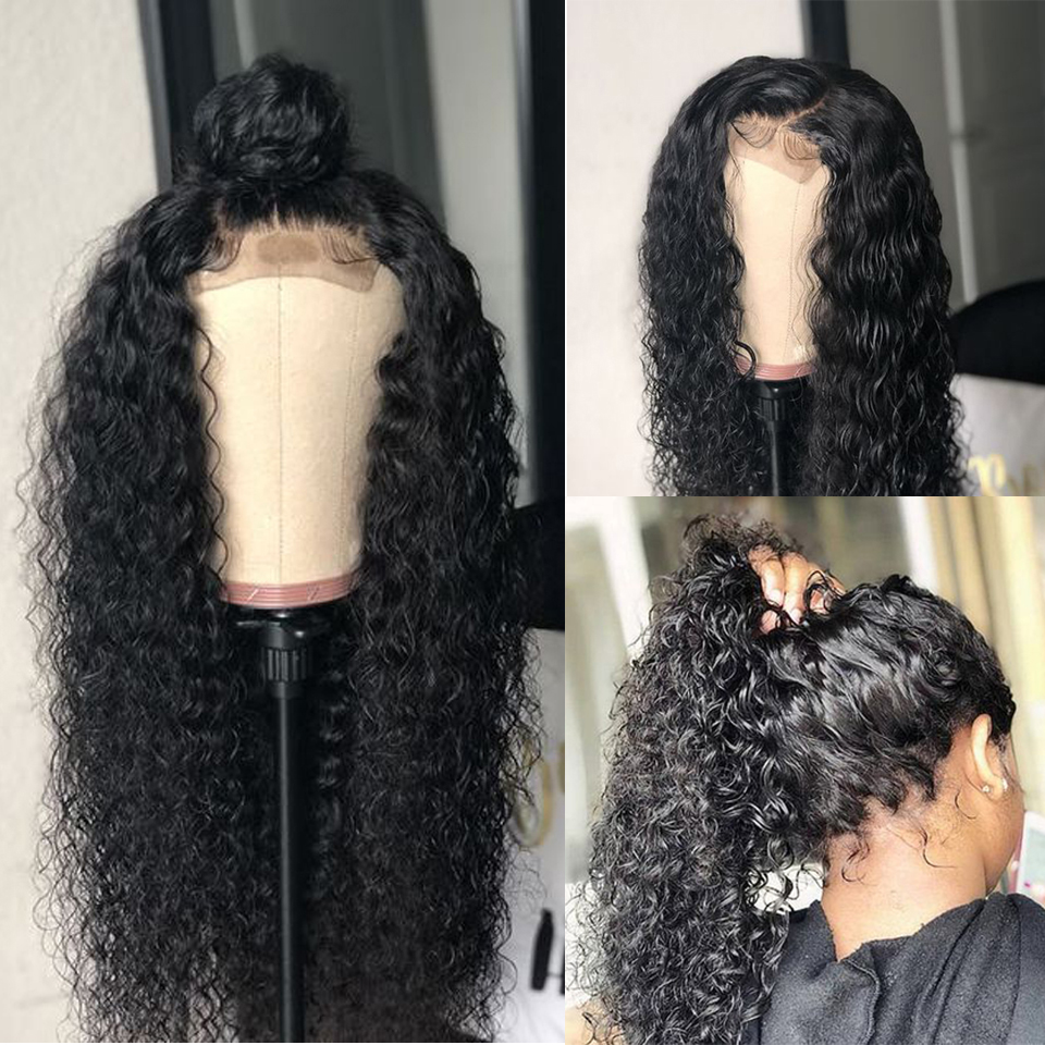 high density curly lace  front wig-8