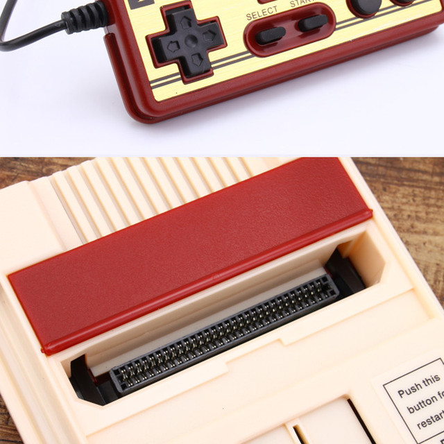 Retro Classic Nostalgic 8 Bit Video Games Console Player + Dual Gamepads+500 IN 1 Game Card AV Output For FC NES TV Game Console 5