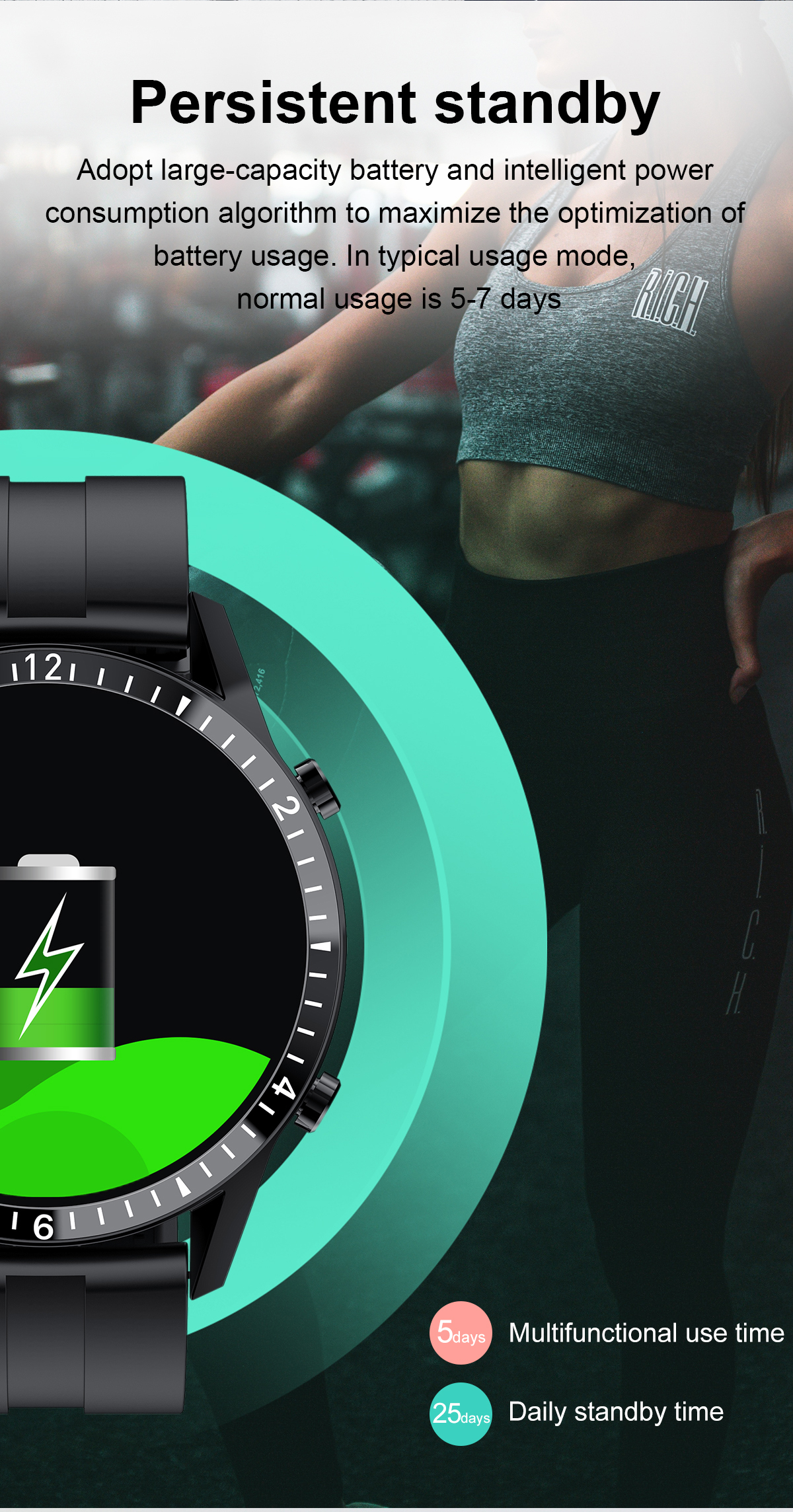 completa esporte relógio de fitness ip67 à