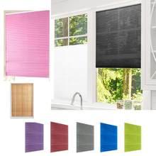 Самоклеящиеся Плиссированные Шторы, полузатемняющие занавески на окна в ванную комнату, защита для окон и дверей