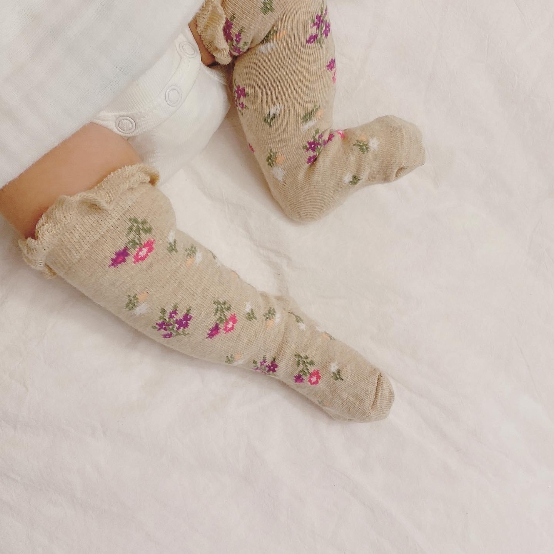 3360 2 Pairs/bag Summer Korean Small Fresh Floral Socks Kids Middle Tube Socks Lovely Pure Cotton Net Fashion Girls Stockings