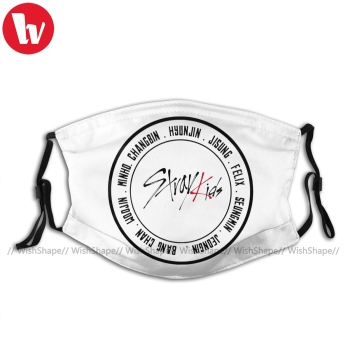 Stray Kids Kpop Mouth Face Mask Stray Kids Facial Mask Cool Kawai with Filters for Adult Mask