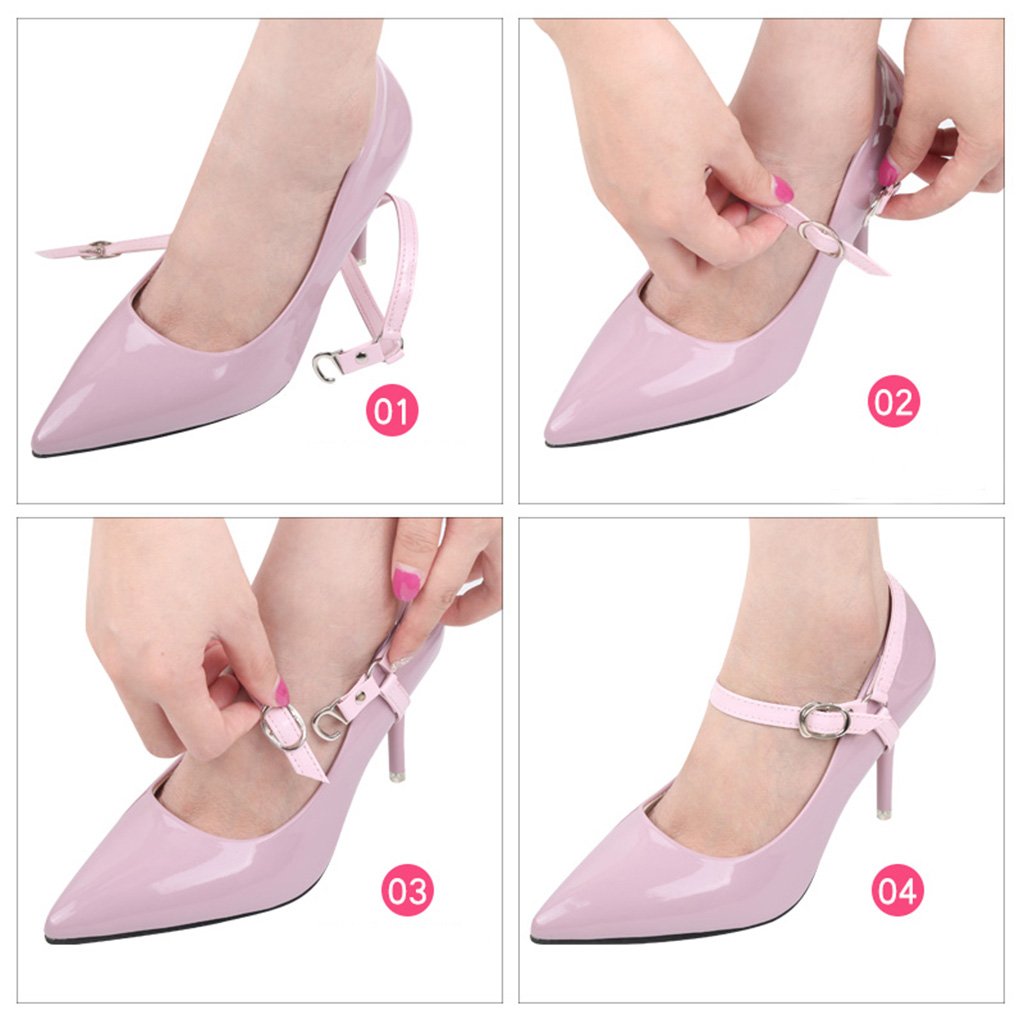 Women's Detachable High Heels Anti Loose Shoelace With Buckle
