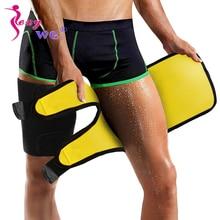 SEXYWG 2PCS Thigh Shaper Slim Leg Warmer Men Neoprene Belt Wrap Shapewear Slimmer Body Trimmer Trainer Sport Brace