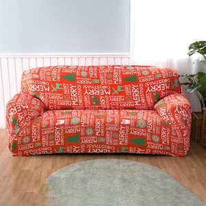 Image 3 - Housse de canapé élastique de Style noël