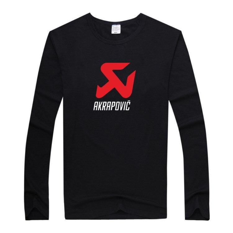 Autumn Fashion Brand Slim Fit Long Sleeve T Shirt Men Trend Casual AKRAPOVIC Print Mens Pullover Winter Korean tshirts