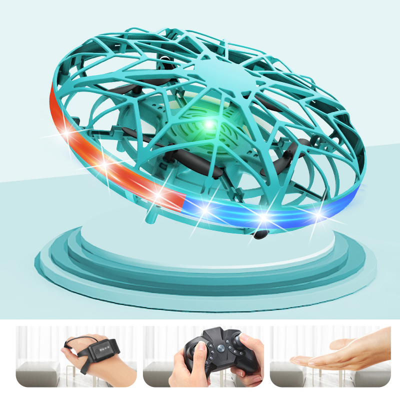 Flying Spinner Mini UFO Gyro Hand Aircraft Fly Spinning Top Toys for Boys Tricks Out Quadcopter Drone Led Glow in Dark Stunts|Fidget Spinner| - AliExpress