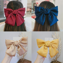 Oversized Bow Knot Hairgrips Bohemian Hair Bow Ties Hair Clips Girl Hair Accessories for Women Bowknot Hairpins Ponytail Holder