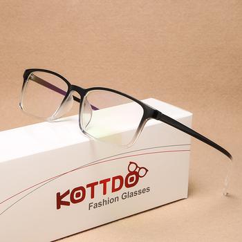 KOTTDO Vintage Square ramki okularów na receptę dla mężczyzn moda klasyczne plastikowe kobiety oprawki do okularów ramki okularów óculos De Grau tanie i dobre opinie Unisex Z tworzywa sztucznego CN (pochodzenie) Stałe 2460 FRAMES Okulary akcesoria