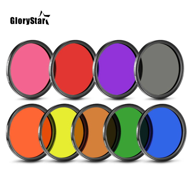 Colorful Filter Color FLD Orange Red Yellow Green Blue 30 49MM 52MM 55 58MM 62MM 67MM 72MM 77MM for Canon Nikon Sony DSLR Camera
