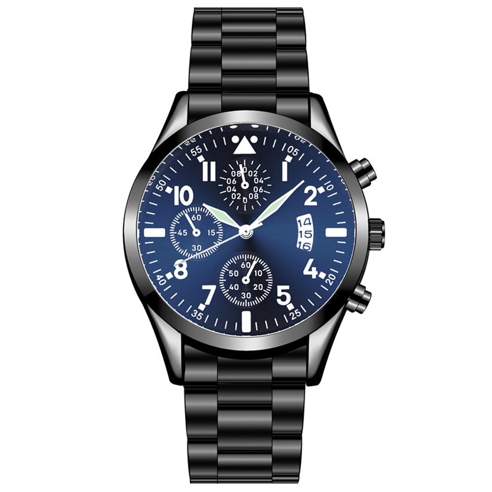Quartz Wristwatch Luminous HEZHUKEJI Men's Watches Classic Calendar Mens Business Steel Watch Relogio Masculino Popular Saati Ho
