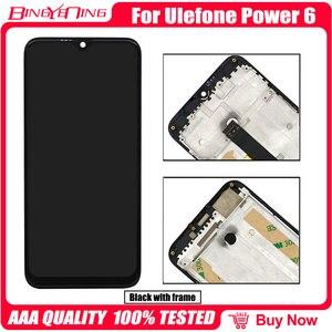 Image 2 - BingYeNingสำหรับUlefone Power 6 LCDและTouch Screen Digitizerกรอบหน้าจอโทรศัพท์อุปกรณ์เสริมเปลี่ยนเครื่องมือ