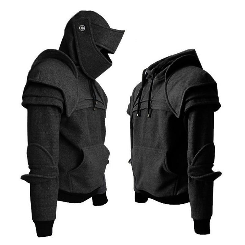 Men's sweatshirt hoodies warm Cosplay Medieval Hoodie Gothic Long Sleeve Sweatshirts Costume