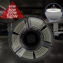 Bombilla LED para garaje, 60W, 80W, 100W, 120W, 110V, E26, 220V, E27, Deformable, para iluminación de taller, 2835