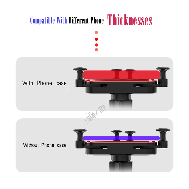 Gravity Invisible Telescopic Car Holder For Phone in Car Air Vent Clip Mount No Magnetic Mobile Phone Holder GPS Stand in Car 4