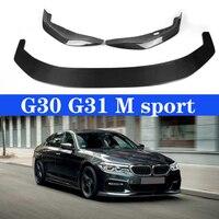 For BMW G30 G31 M sport 530i 540i 17 19 Carbon Front Bumper Lip Splitter Body Kit