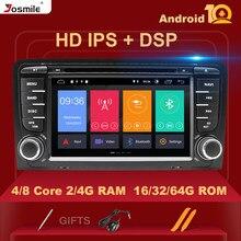 Leitor de dvd do rádio do carro do andróide 10 do ruído do núcleo 4 gb ram 2 de ips dsp 8 para a câmera estereofônica dos multimédios de audi a3 8p s3 2003-2012 rs3 sportback