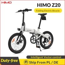 Eu ue stockhimhimo z20 bicicleta elétrica dobrável e-bike 250w 10ah ultra-dinâmico modo duplo ao ar livre bicicleta urbana 80km quilometragem praia ebike