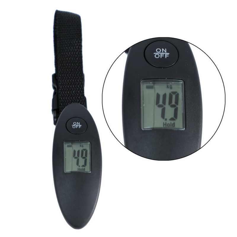 Urijk 40 kg/100g LCD balance de voyage numérique balance de bagages électronique valise portable Shopping balance de poids suspendue avec sangle