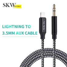 Get more info on the SKW For iPhone Aux Cable Lighting To 3.5MM Jack Male To Male Audio Cable For iPhone 7 8 Above To Headphone Speaker Car AUX Line