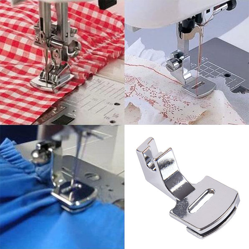 1pcs Wrinkle Pressure Foot Of Household Sewing Machine Accessories Double-Sided Wrinkle Of Presser Foot