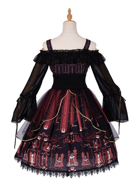 готическое винтажное платье лолиты кружевное с бантом и открытыми фотография