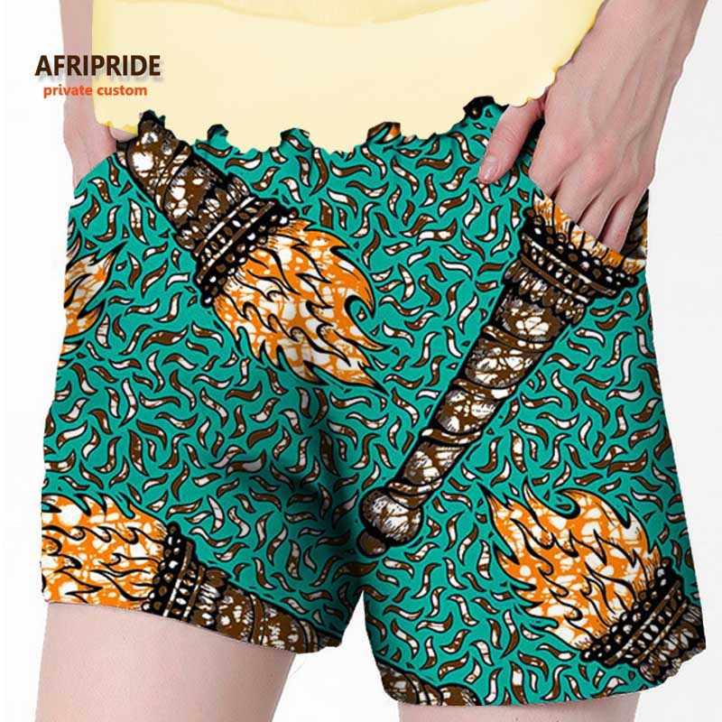 2020 afrika yaz plaj şortu kadınlar için ankara kumaş dashiki baskı pantolon AFRIPRIDE özel özel saf pamuklu baskı A722106