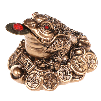 Feng Shui Toad Money LUCKY Fortune Wealth Chinese Golden Frog Toad Coin Home Office Decoration Tabletop Ornaments Lucky Gifts 7