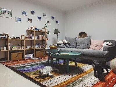 Tapis de fleur nordique pour le salon grands petits tapis mous rouges/chambre à coucher tapis Floral rose tapis de sol Table basse sont tapis - 6