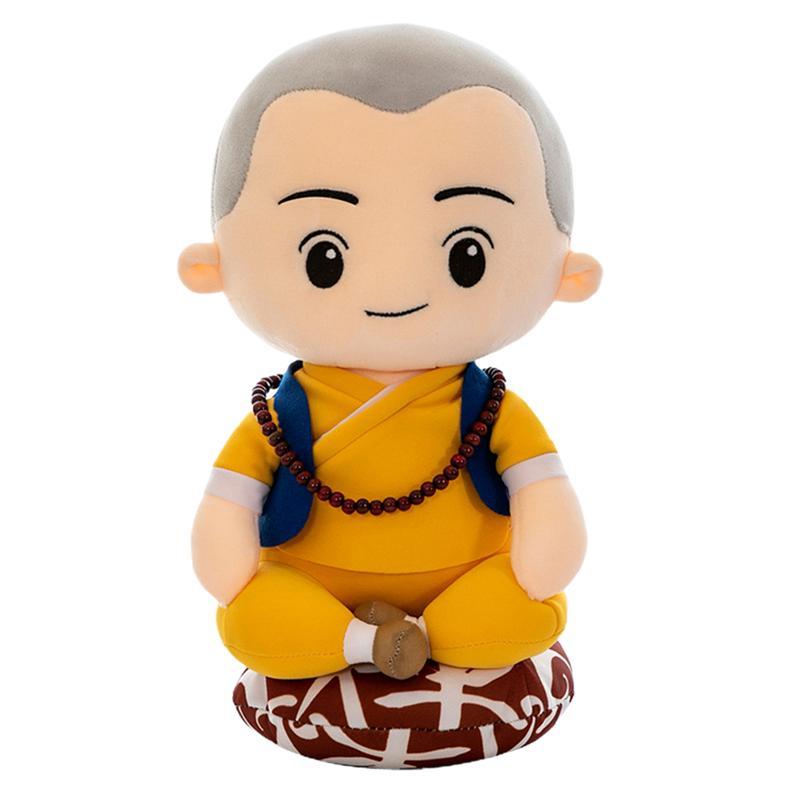 1pc Little Monk Shaped Doll Cute Plush Toy Dolls Cartoon Stuffed Toy Soft Stuffed Plush Doll