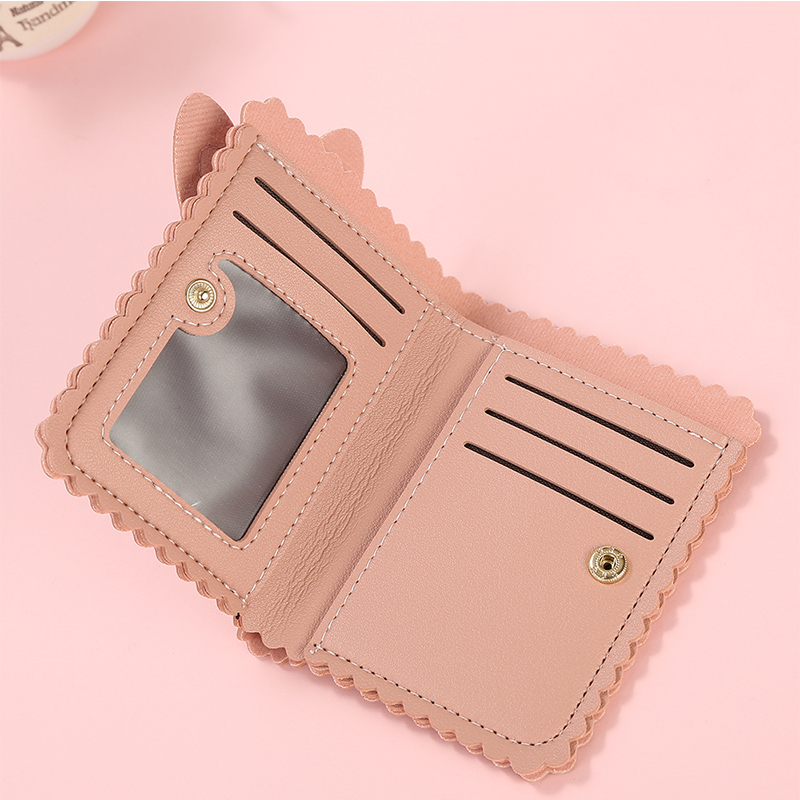 2019 New Kawaii Women Wallets Lovely Rabbit Card Holder Small Wallet Women's Short Design Purse Girls Wallet Cash Holder
